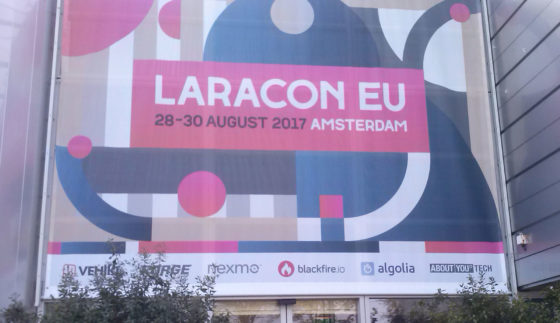 laracon eingang amsterdam august 2017